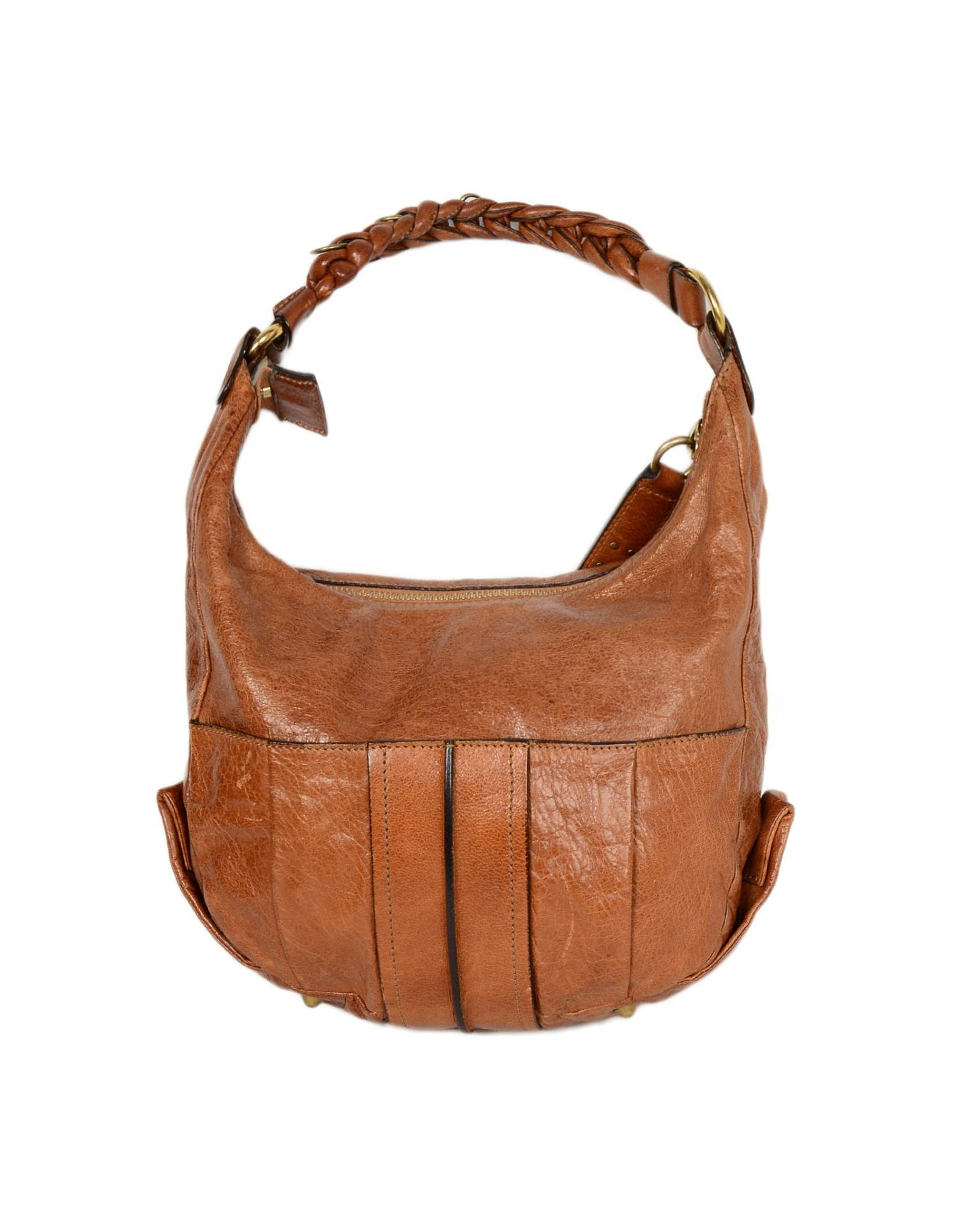9d5eb0841d852 Chloe Tan Leather Heloise Hobo Bag w/ Braided Shoulder Strap For Sale at  1stdibs