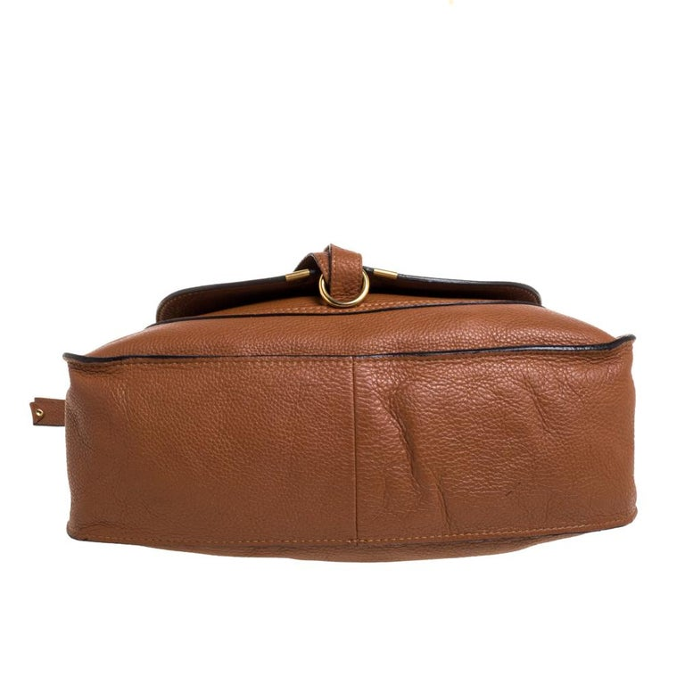 Women's Chloe Tan Leather Medium Marcie Shoulder Bag