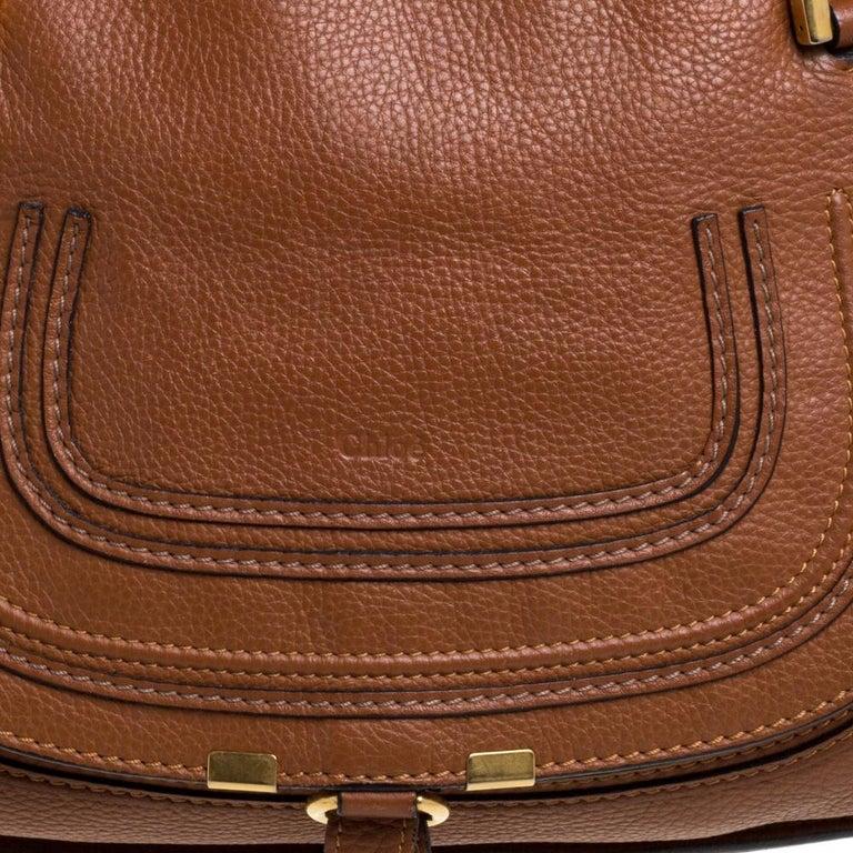 Chloe Tan Leather Medium Marcie Shoulder Bag 1
