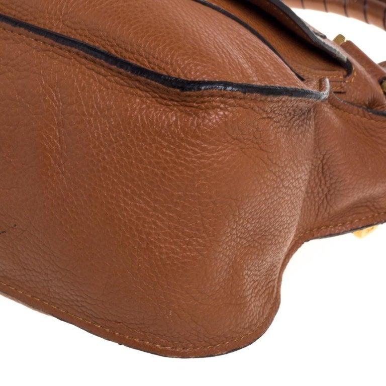 Chloe Tan Leather Medium Marcie Shoulder Bag 2