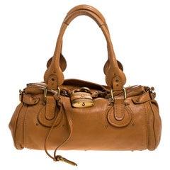 Chloe Tan Leather Medium Paddington Satchel Bag