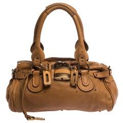 Chloe Tan Leather Medium Paddington Satchel