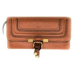 Chloé Tan Marcie Continental Flap Wallet