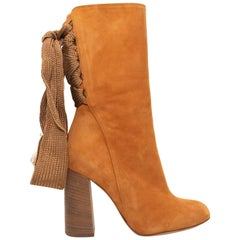 Chloe Tan Suede Harper Ankle Boots