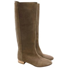 Chloe Taupe Suede Knee Boots 38.5