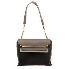 Chloe Tri Color Leather Medium Clare Shoulder Bag