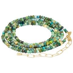 Chloe Turquoise Gold 18 Karat Gemstone Convertible Wrap