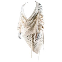 Chloe Vanilla Asymmteric Open Knit Cardigan M-L