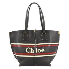 Chloe Vick Logo Tote Printed Leather Medium