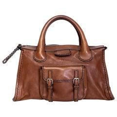 Chloe Vintage Brown Edith Satchel Bag