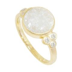 Chloe White Druzy Ring