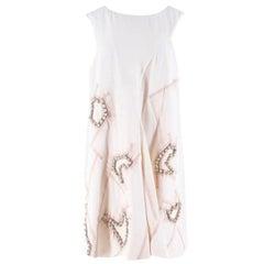 Chloe White Embellished Silk Dress Size 40