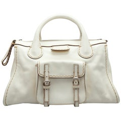 Chloe White Leather Handbag