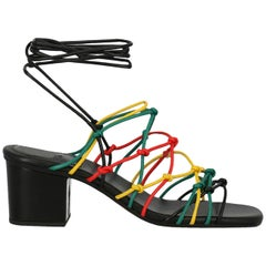 Chloe Woman Sandals Black, Red, Yellow IT 39