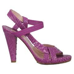 Chloe Women  Sandals Purple Leather IT 37