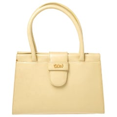 Chloe Yellow Leather Double Handle Satchel