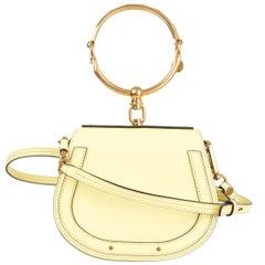 CHLOE yellow leather NILE SMALL BRACELET Crossbody Shoulder Bag