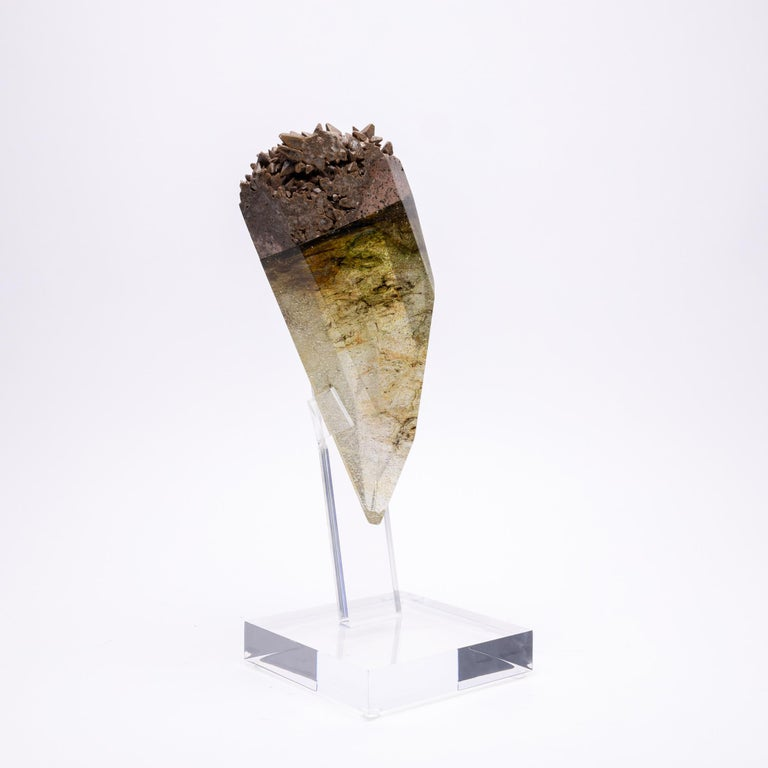 Kleat, Chocolate Calcite and glass sculpture from TYME Collection, a collaboration by Orfeo Quagliata and Ernesto Durán  TYME collection A dance between purity and detail bring a creation of unique pieces merging nature's gems and human