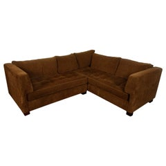 Chocolate Chenille Sectional Sofa