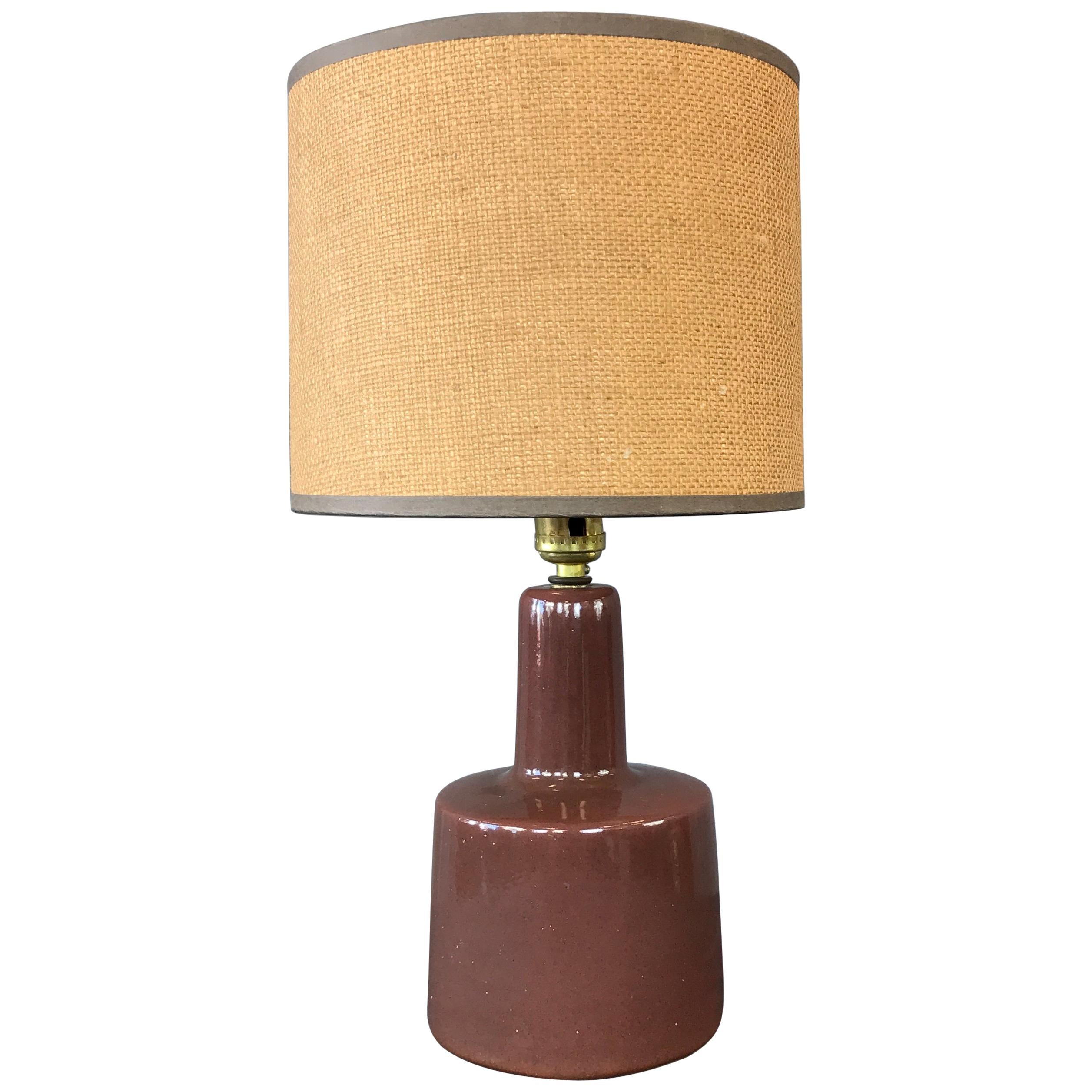 Chocolate Color Gordon and Jane Martz Table Lamp for Marshall Studios