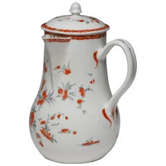 Chocolate Pot, Kakiemon Decoration, Bow Porcelain Factory, circa 1755