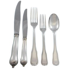 Choiseul by Puiforcat French Sterling Silver Flatware Set Service 49 Pcs Dinner