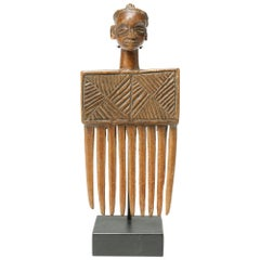 Chokwe Personal Comb Angola Congo Early 20th Century African Tribal Art