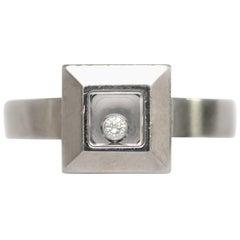 Chopard  .05 Carat Diamond White Gold Engagement Ring