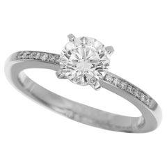 Chopard 0.70 Carat Diamond Solitaire Platinum Ring