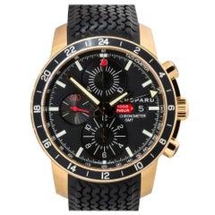 Chopard 161288 Mille Miglia 18k Rose Gold Black Dial Watch