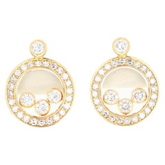 Chopard 18 Karat Happy Diamond Icon Earrings