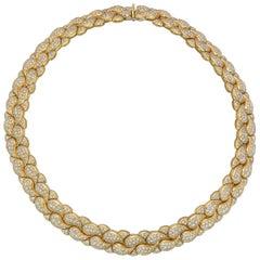 Chopard 18 Karat Yellow Gold amd Diamond 'Casmir' Necklace