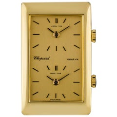 Chopard 18 Karat Yellow Gold Champagne Dial Dual Time Zone Gents 2087