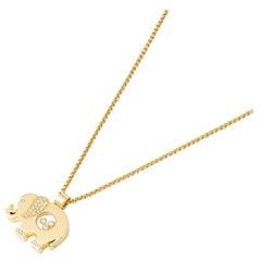Chopard 18 Karat Yellow Gold Happy Diamonds Elephant Pendant