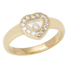 Chopard 18 Karat Yellow Gold Happy Diamonds Ring