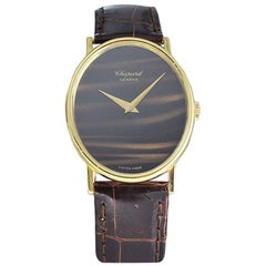 Chopard 18 Karat Yellow Gold Tiger Eye Dial Dress Style, circa 1970s-1980s