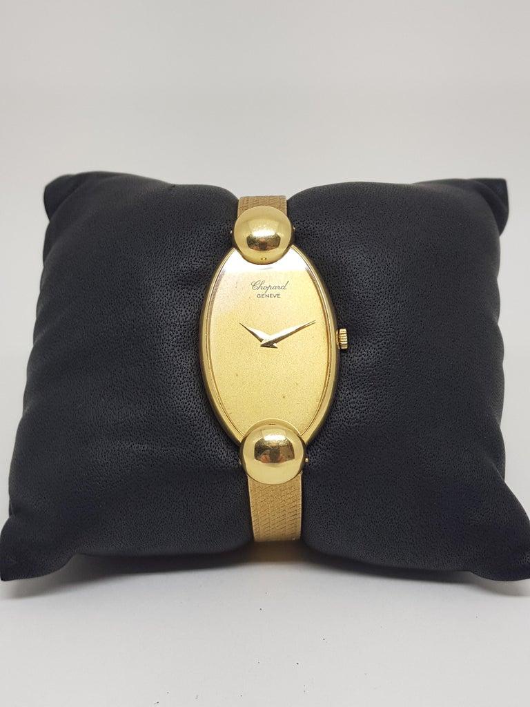 Chopard 18 Karat Yellow Gold Vintage Ladies Watch For Sale 6