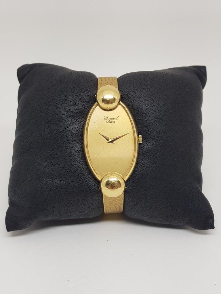 Chopard 18 Karat Yellow Gold Vintage Ladies Watch For Sale 7