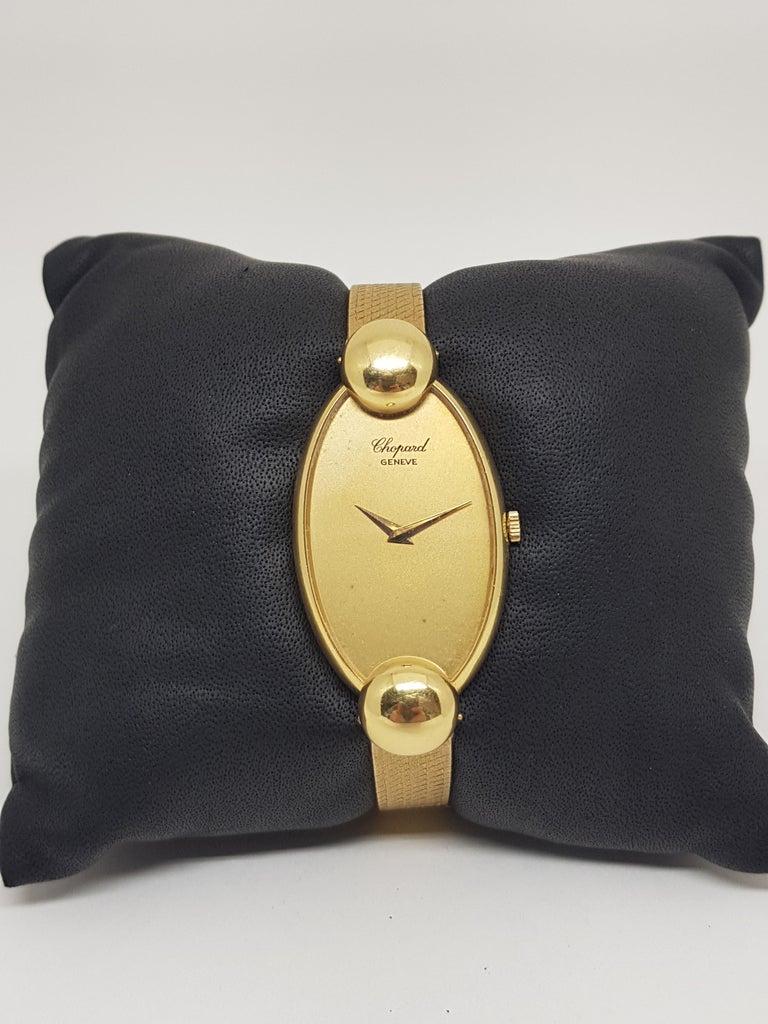 Chopard 18 Karat Yellow Gold Vintage Ladies Watch For Sale 8