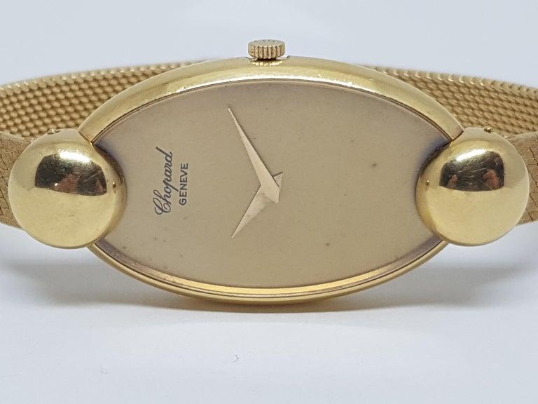 Chopard 18 Karat Yellow Gold Vintage Ladies Watch In Good Condition For Sale In Antwerp, BE