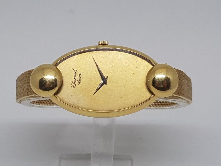 Women's Chopard 18 Karat Yellow Gold Vintage Ladies Watch For Sale