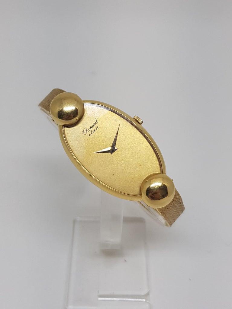 Chopard 18 Karat Yellow Gold Vintage Ladies Watch For Sale 1