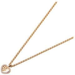 Chopard 18 Carat Gold Happy Hearts Diamond Pendant