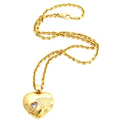 Chopard 18K Gold Love Necklace with Happy Diamonds