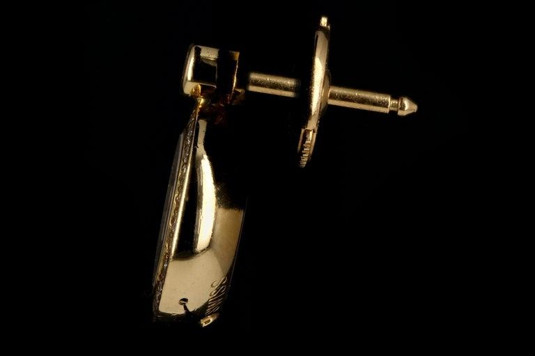 Women's Chopard 18 Karat Happy Diamond Icon Earrings For Sale