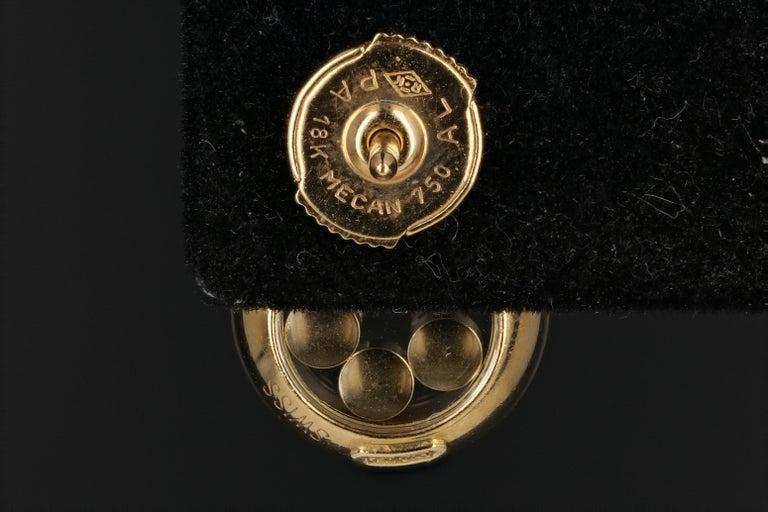 Chopard 18 Karat Happy Diamond Icon Earrings For Sale 1