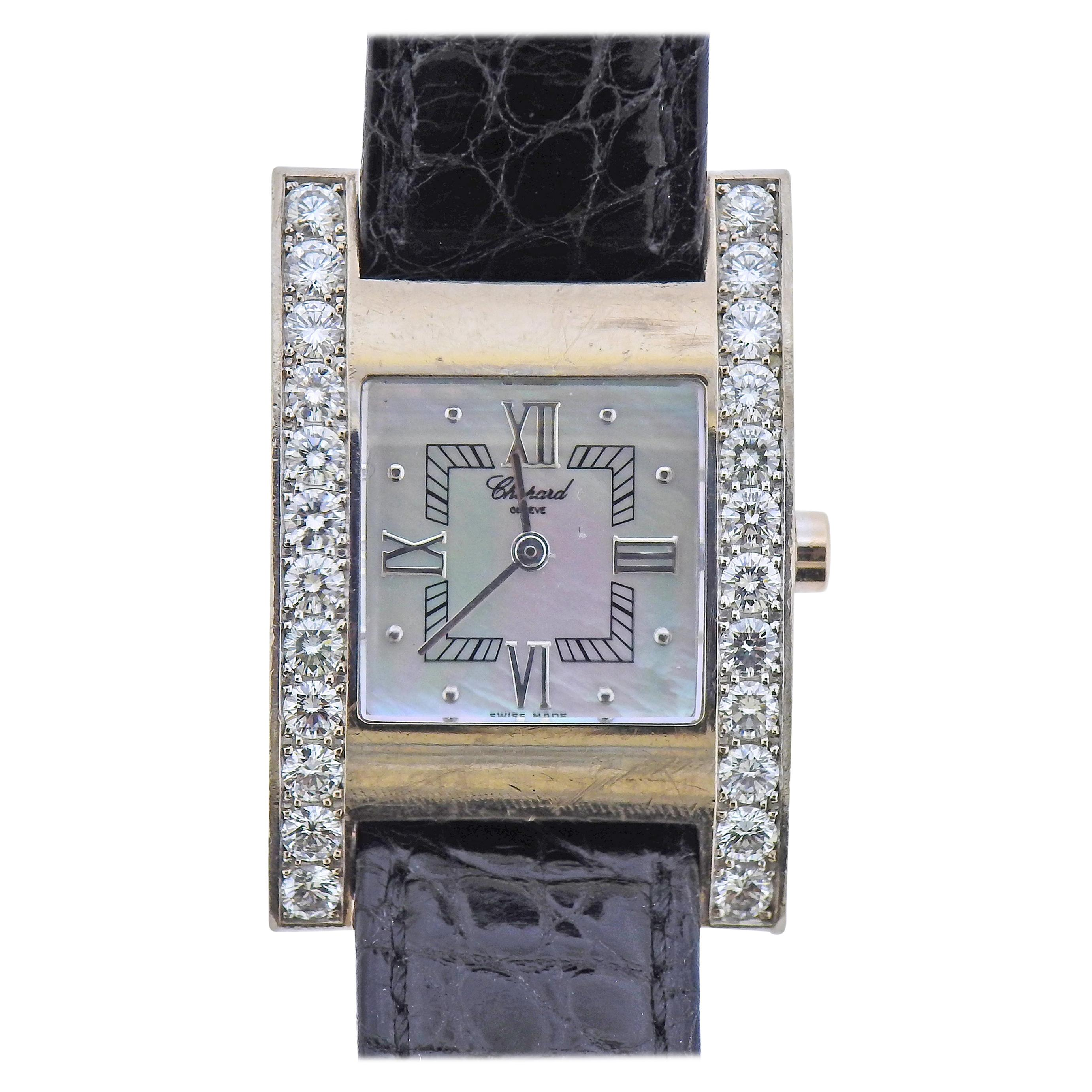 Chopard 18 Karat White Gold Diamond and Mother of Pearl Watch