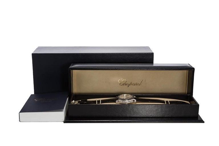 Chopard 18 Karat White Gold and Diamond Happy Sport 28/3340-50 For Sale 4