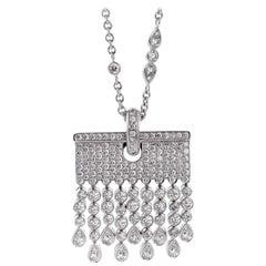 Chopard 6.32 Carat Diamond White Gold Tassel Necklace