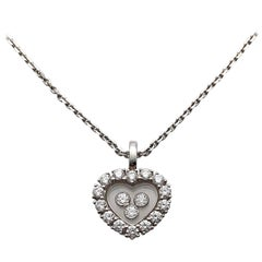 Chopard .69 Carat, Happy Heart Diamond Pendant